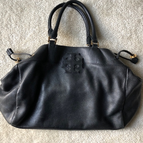 Tory Burch Handbags - Tory Burch Black Leather Shoulder Bag